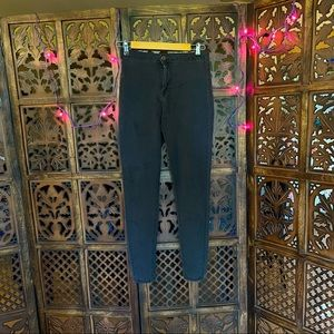Skinny high waist charcoal jeans, purchased outside India